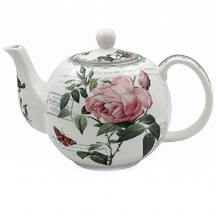 Redoute Rose Fine China Teapot